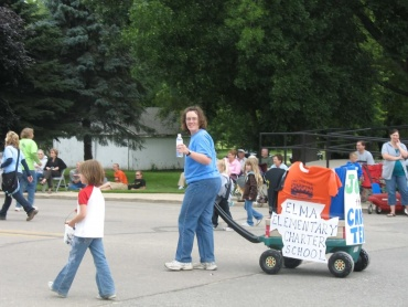 Elma Charter School's parade entry