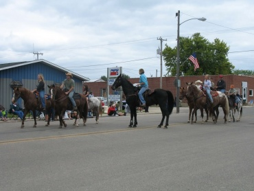 Horses bring the parade's finale