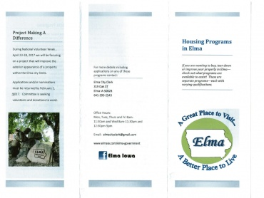 Housing Program Brochure, page 1