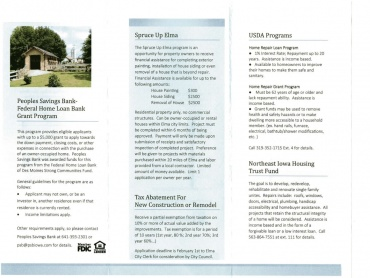Housing Program Brochure, page 2