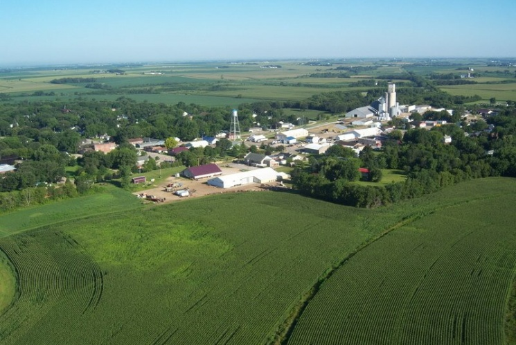 Ariel view of Elma