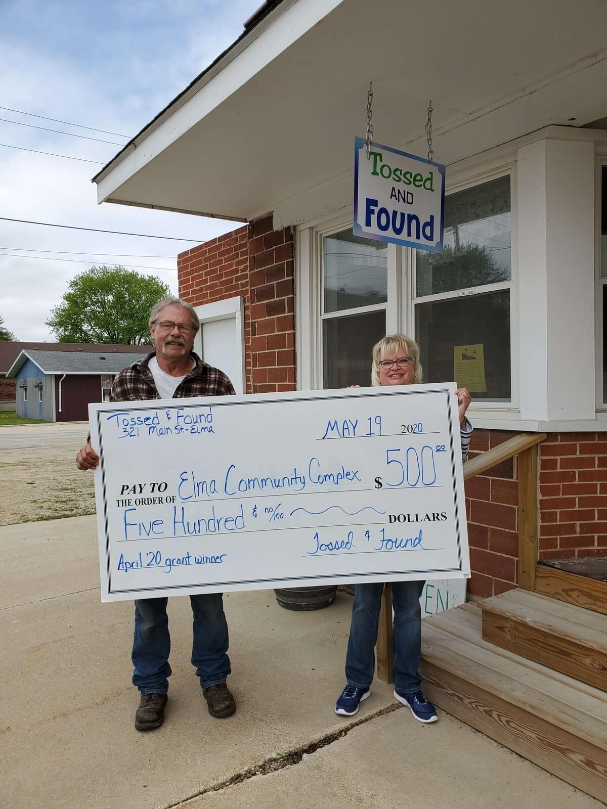 Mayor Steven receives grant for ECC Community Room