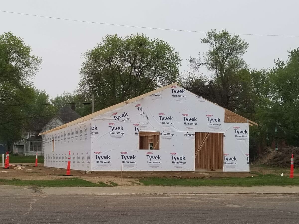 Medical Clinic walls & roof are up