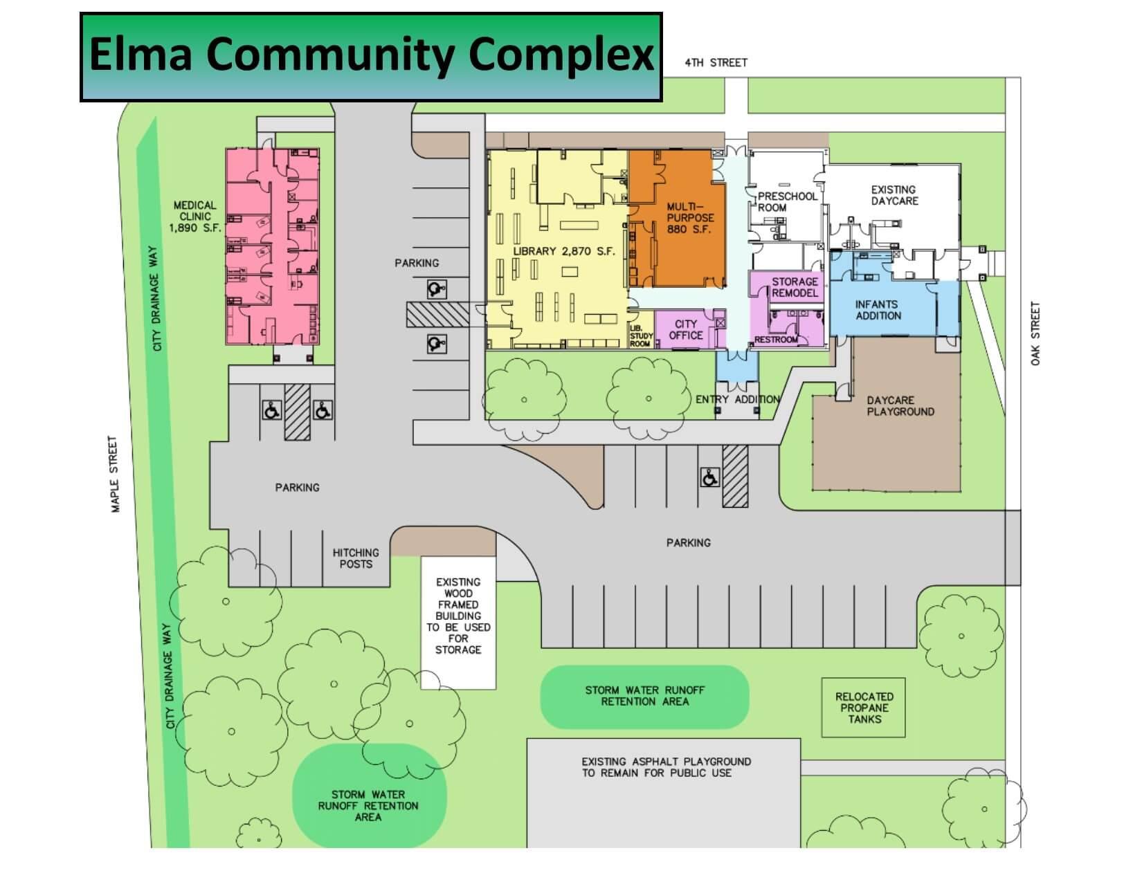 Elma Community Complex Project diagram