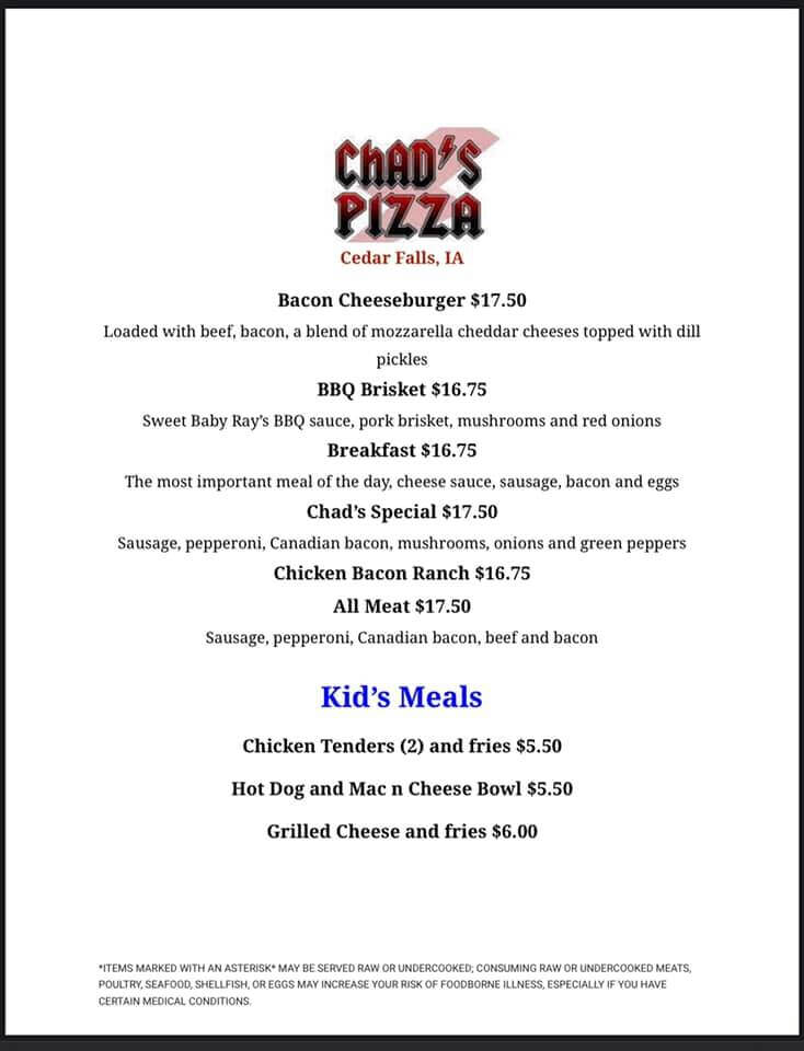 Chad's Pizza & Kid's Meals